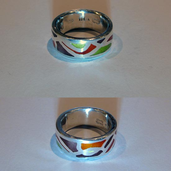 multi colours rings