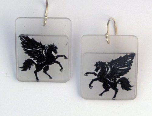 pegasus earrings