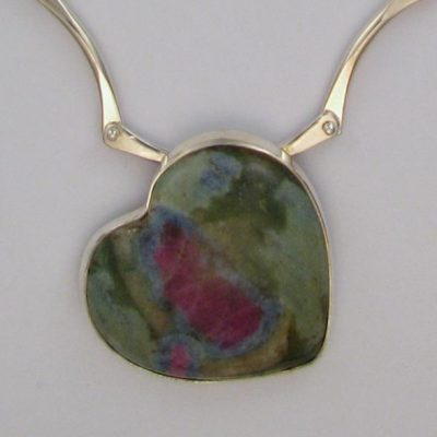 Ruby in Fuchsite hand made necklace