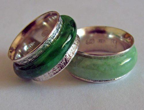 jade spinner rings