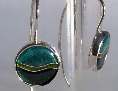 vitreous enamel – drop earrings