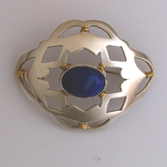 Lapis Brooch handcrafted jewelry Australia