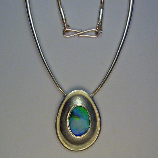 Opal necklace jewelry Australia