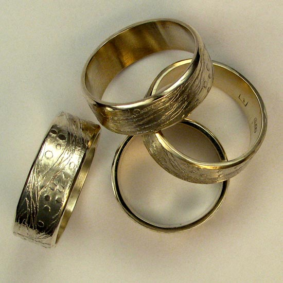 Etched Wedders Rings