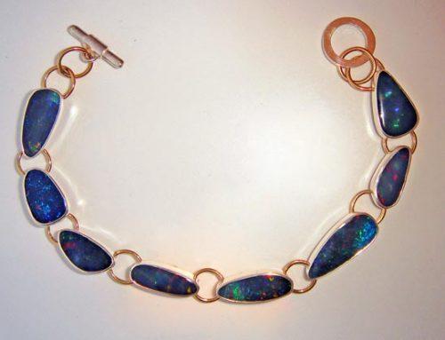 blue opal bracelet