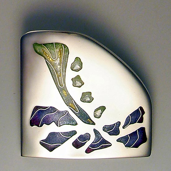 Take the plunge cloisonné brooch