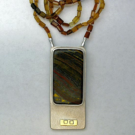Tourmaline & Tiger Iron Necklace